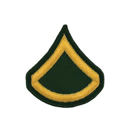 3 Inch Army Dress Green E3 PFC Patch