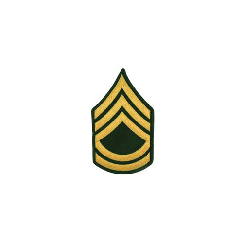 Patch Army E7 SGT 1ST CL Pair Dress Green
