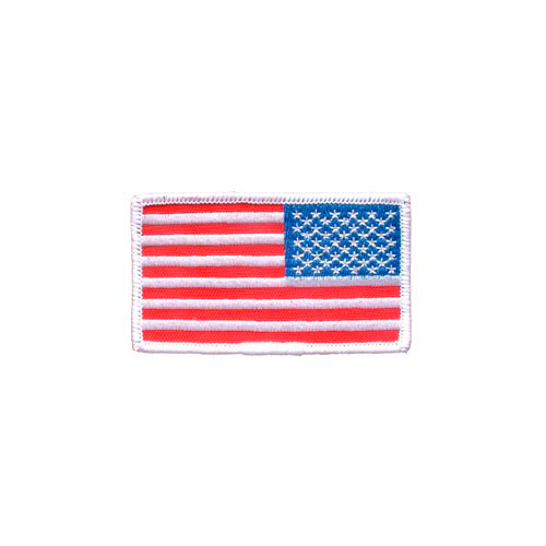 Patch-Flag USA Rectangle White