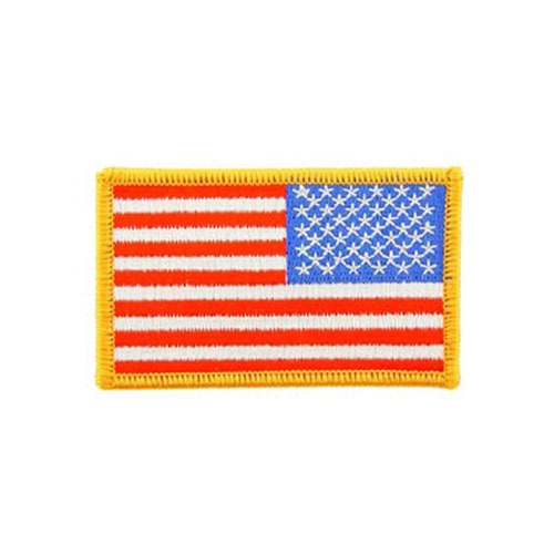 Patch-Flag USA Rectangle Gold