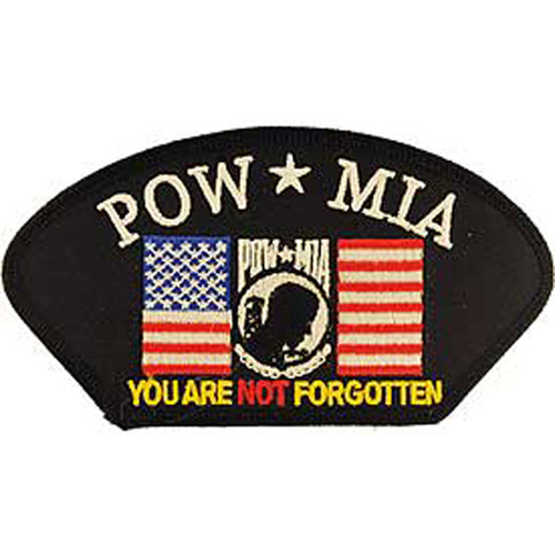 Patch-Powmia W/Flag