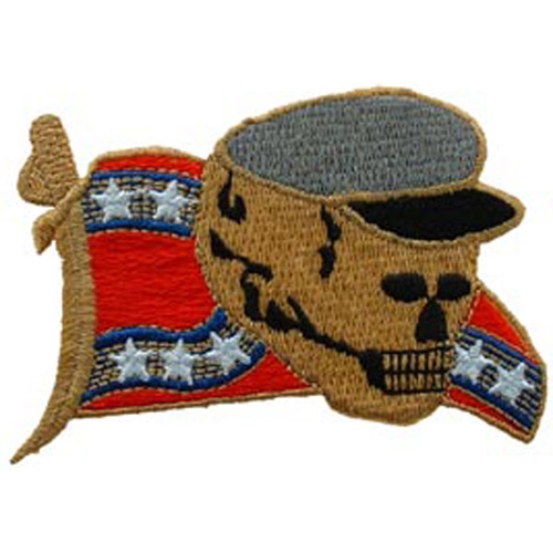 Patch-Rebel Skull Flag