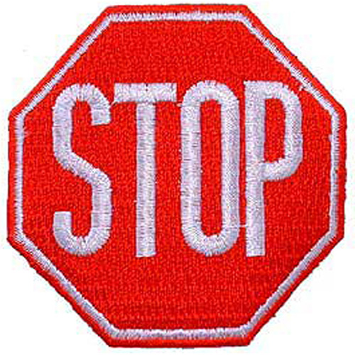 Patch-Stop Sign