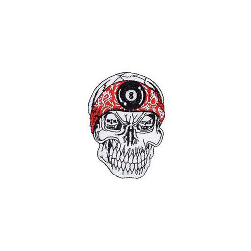 Red Band 3 Inch Skull Patch