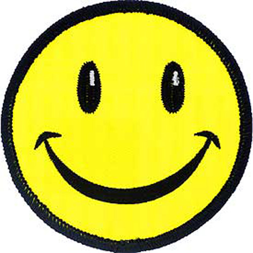 Patch-Smiley Face