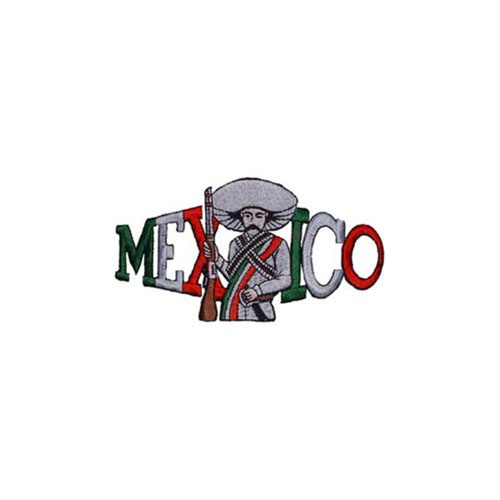 PATCH-MEXICO,MAN,GUN