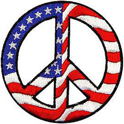 Patch-Usa Peace Sign