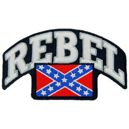 Patch-Rebel Flag W/Script