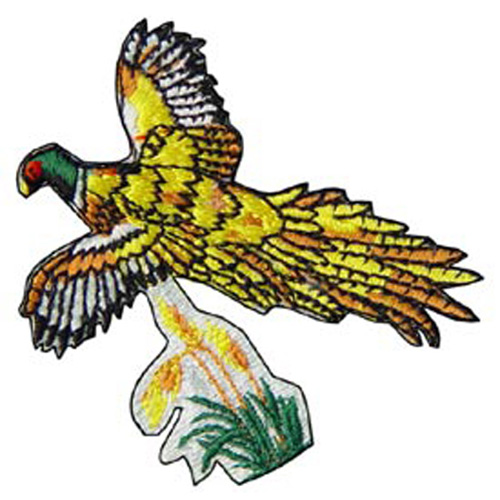 Patch-Pheasant Flying