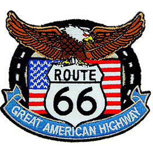 Patch-Route 66 Eagle/Flag
