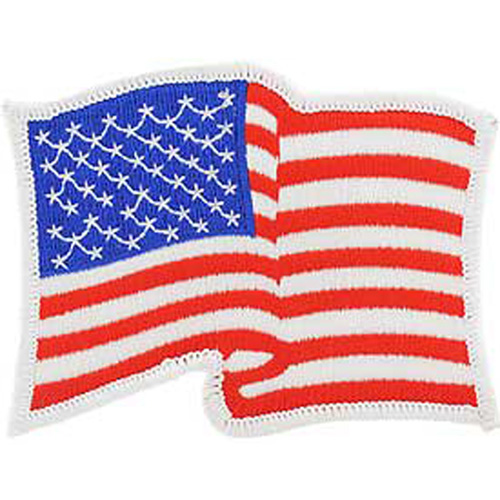 Patch-Flag Usa Wavy White