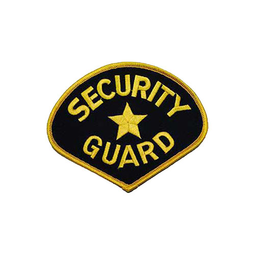 4 3/4 Inch Golden Black Security Guard Patch