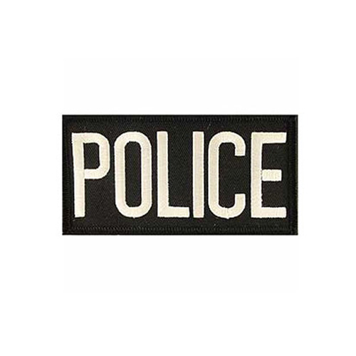 Police Tab White-Black Patch