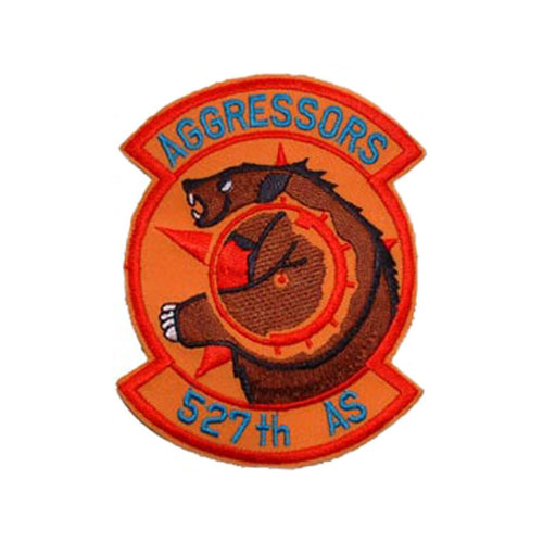 3 1/2 Inch USAF Aggressors 52th AS Patch