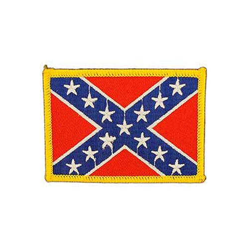 3 1/2 Inch Rebel Confederate Ractangle Patch
