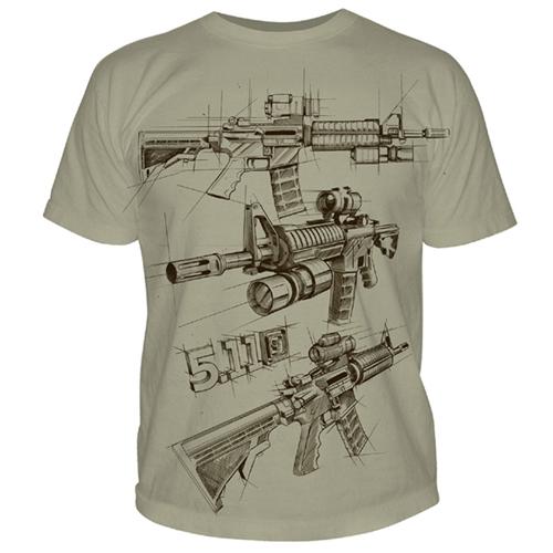 5.11 Tactical AR Sketch Logo T-Shirt