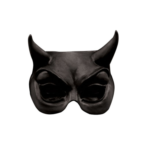 Devil Black Half Mask