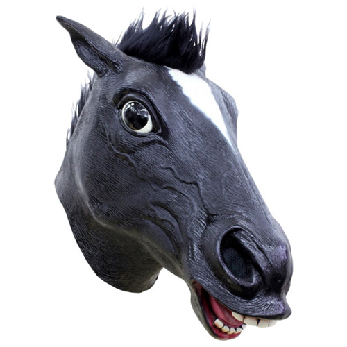 Black Horse Costume Mask