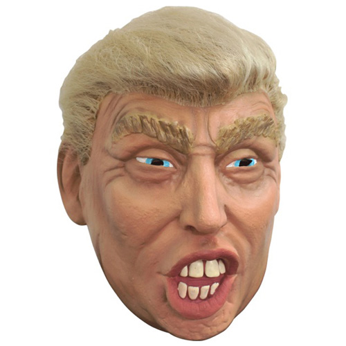 Trump with Hair Costume Mask