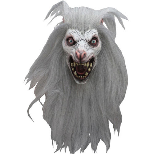 White Moon Wolf Costume Mask