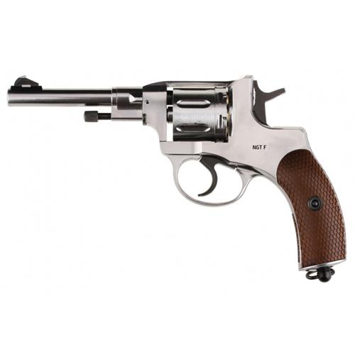 Gletcher NGT F Nagant Revolver BB Gun - Silver
