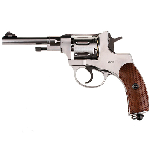 Gletcher Nickel Plated Revolver