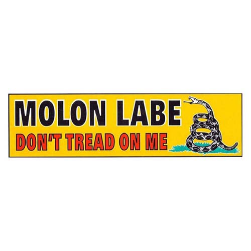 Molon Labe Dont Tread  on Me Sticker