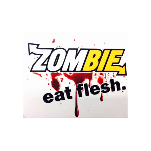 Zombie Eat Flesh Sticker