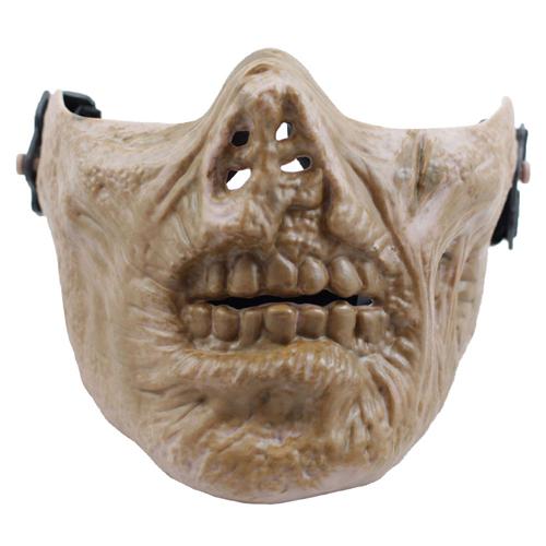 Zombie Skull Half Mask - TPU Plastic