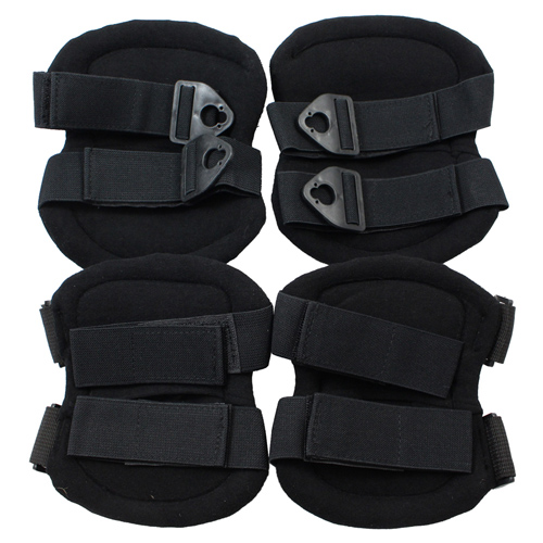 Tactical Knee and Elbow Pad Set - Black