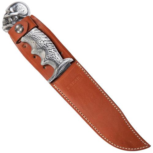 E.W. Stone Skull & Cobra Aluminum Handle Fixed Blade Knife