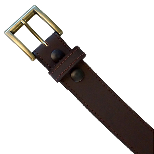 Leather Belt w. Removable Buckle