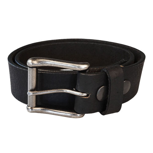 Keldon Pebbled Leather Belt w. Removable Buckle