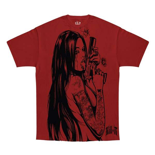 Red Kill It Addicted To Chaos T-Shirt