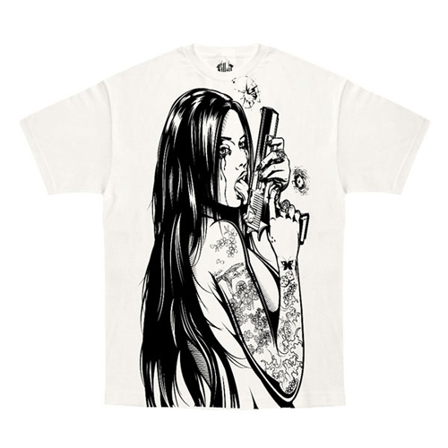 White Kill It Addicted To Chaos T-Shirt