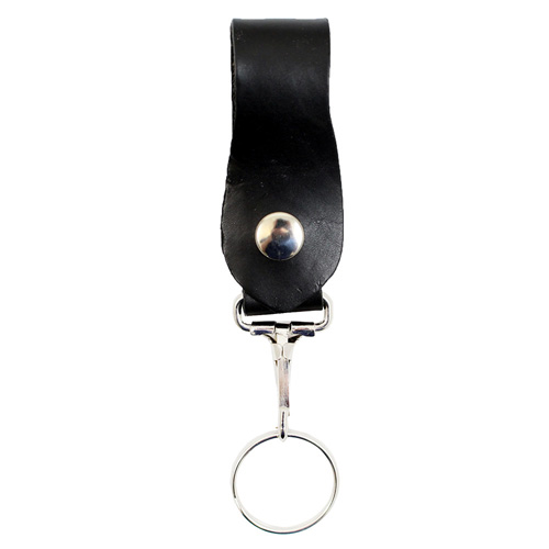 Black Leather Key Chain Ring