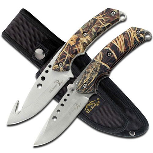 Elk Ridge Hunting Knife Set 2 Piece Set