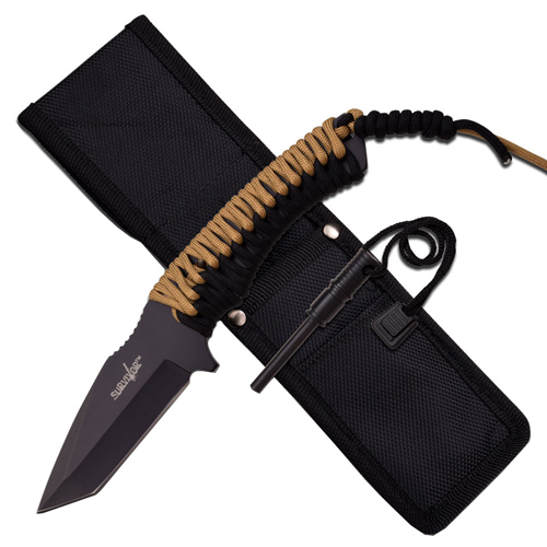 Survivor 9.25 Inch Overall Fixed Blade Knife