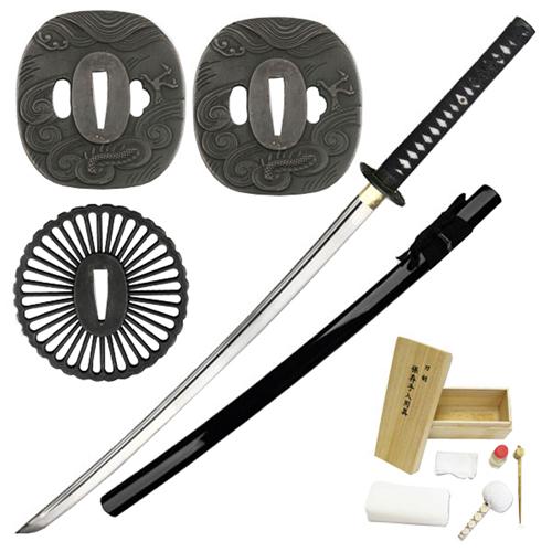 Ten Ryu MA-203BK Hand Forged Samurai Sword