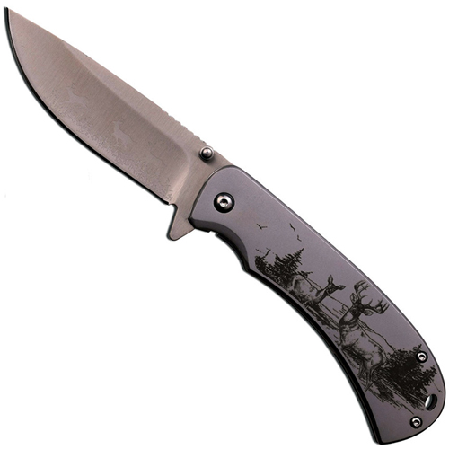 Master Collection 4.5 Inch Eagle Art Work Steel Folding Knife