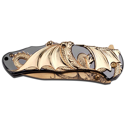 Master Collection MC-A045 Folding Knife - Gold