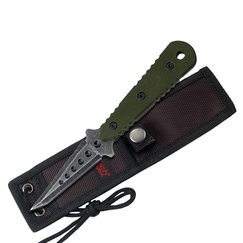 20-37GN Green G-10 Handle Fixed Blade Knife