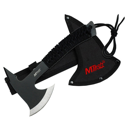 8.75 Inch Black Cord Wrapped Handle Axe