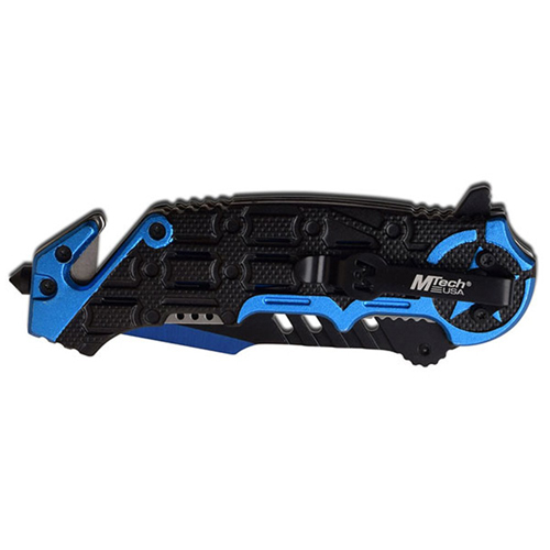 MTech USA MT-A1008BL Spring Assisted Knife - Blue