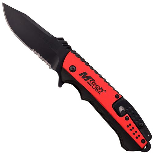 MTech USA A889 Anodized Aluminum Handle Folding Knife