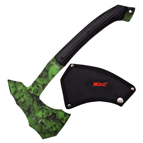 MTech USA MT-AXE12C 12 Inch Zombie Green Axe