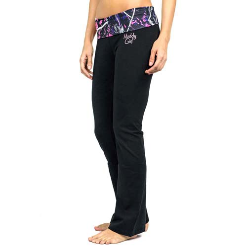 Moon Shine Muddy Girl Pink Camo Yoga Pants