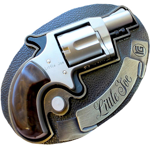 Little Joe Nickel Finish Blank Gun w/Belt Buckle