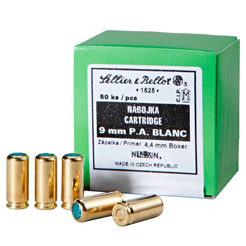 Sellier & Bellot 9mm P.A. Blank Cartridges