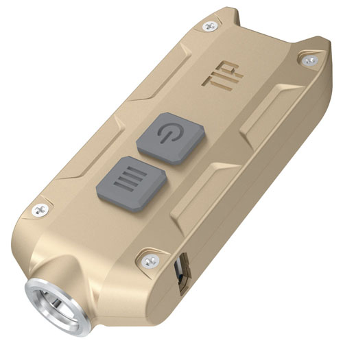 Tip 360 Lumen Keychain Flashlight - Gold